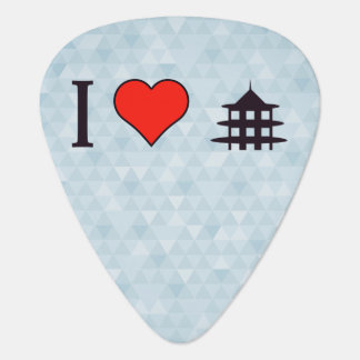 I Heart Visiting Chinese Temple Guitar Pick