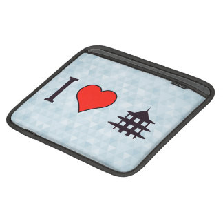 I Heart Visiting Chinese Temple Sleeve For iPads