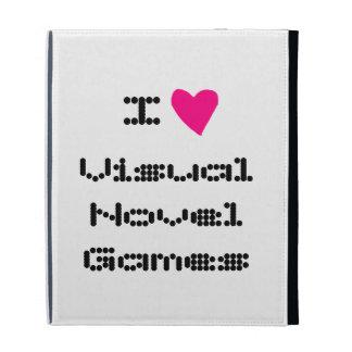 I Heart Visual Novel Games iPad Folio iPad Folio Cover
