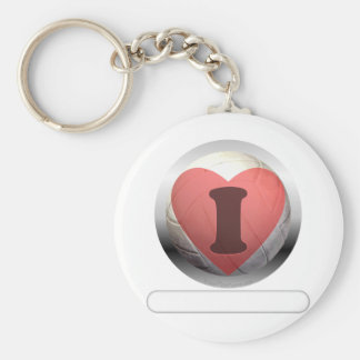 I heart Volleyball- add your words Keychain