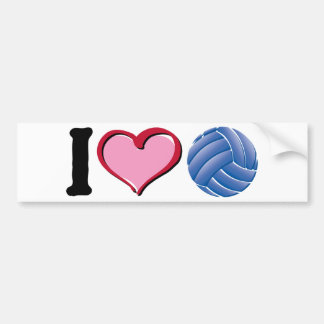 I heart volleyball bumper stickers