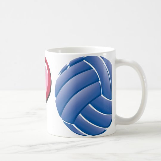 I heart volleyball coffee mug