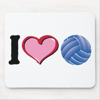 I heart volleyball mouse pad