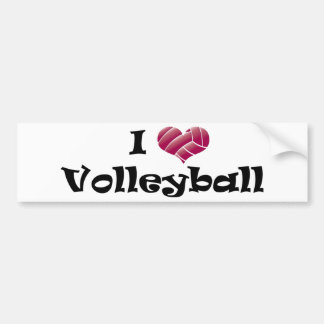 I heart volleyball (red) bumper sticker