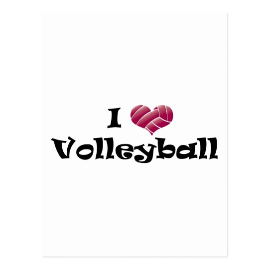 I heart volleyball (red) postcard