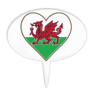 I Heart Wales Cake Picks
