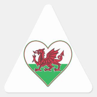 I Heart Wales Triangle Sticker