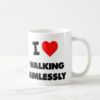 I Heart Walking Aimlessly Classic White Coffee Mug