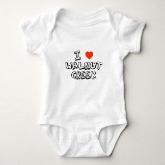 I Heart Walnut Creek Baby Bodysuit