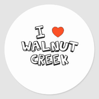 I Heart Walnut Creek Classic Round Sticker