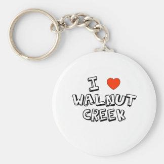 I Heart Walnut Creek Keychain