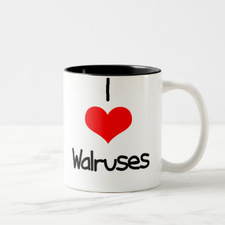 i-heart-walruses Two-Tone coffee mug