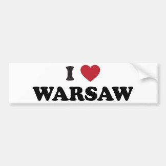 I Heart Warsaw Poland Bumper Sticker