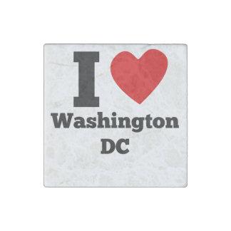 I Heart Washington DC Stone Magnet