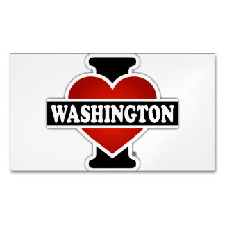 I Heart Washington Magnetic Business Card