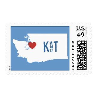 I Heart Washington State - Customizable City Stamp