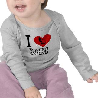I Heart Water Skiing Shirts