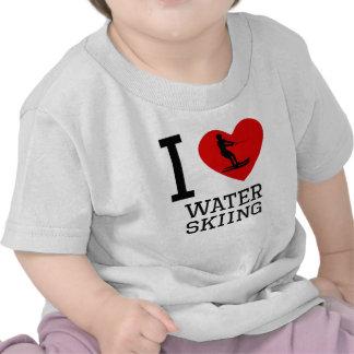 I Heart Water Skiing Tee Shirts