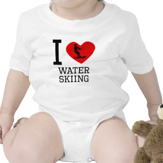 I Heart Water Skiing Rompers