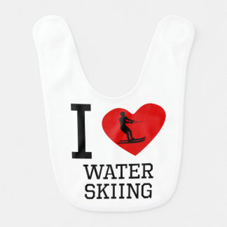I Heart Water Skiing Bib