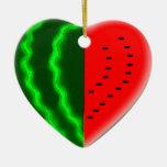 I (Heart) Watermelon Ceramic Ornament