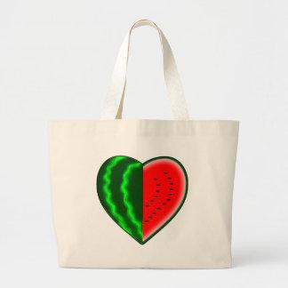 I (Heart) Watermelon Large Tote Bag