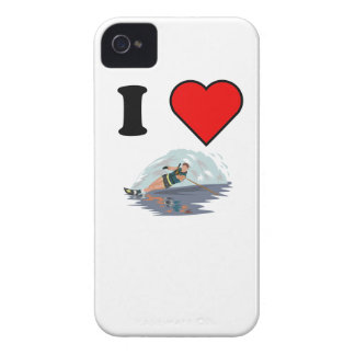 I Heart Waterskiing iPhone 4 Case