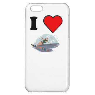 I Heart Waterskiing Cover For iPhone 5C