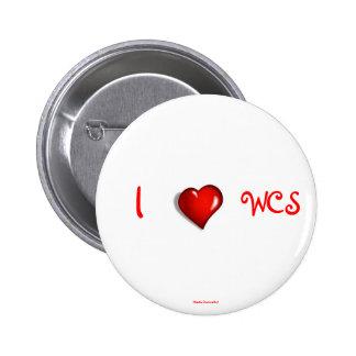 I Heart WCS Pinback Button
