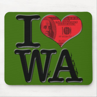 I (heart) WeAlth Mouse Pad