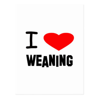 I Heart weaning Postcards