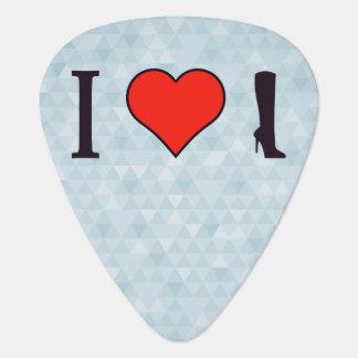 I Heart Wearing Knee High Boots Guitar Pick