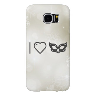 I Heart Wearing Masks Samsung Galaxy S6 Cases