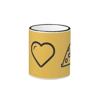 I Heart Wearing Nightcaps Ringer Coffee Mug