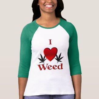 I Heart Weed T Shirts