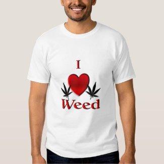 I Heart Weed Tshirts