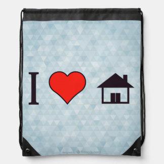 I Heart Welcoming Guests Drawstring Bag