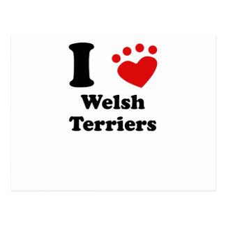 I Heart Welsh Terriers Postcards