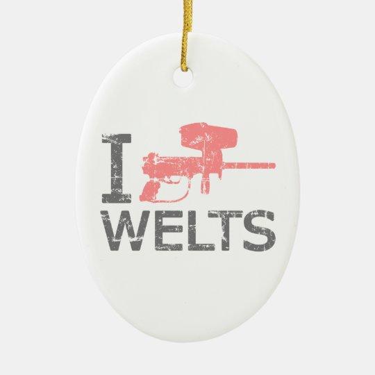 I Heart Welts Ceramic Ornament