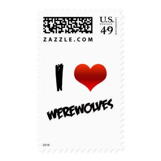 I Heart Werewolves Postage