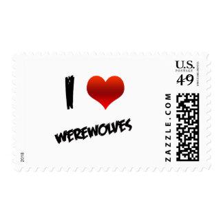 I Heart Werewolves Postage Stamps