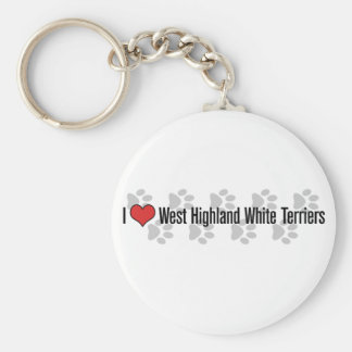 I (heart) West Highland White Terriers Keychain