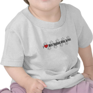 I (heart) West Highland White Terriers Tee Shirts