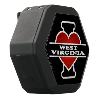 I Heart West Virginia Black Bluetooth Speaker