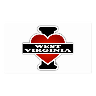 I Heart West Virginia Double-Sided Standard Business Cards (Pack Of 100)