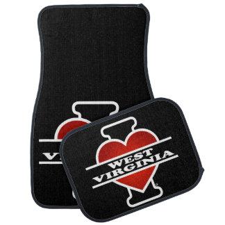 I Heart West Virginia Car Floor Mat