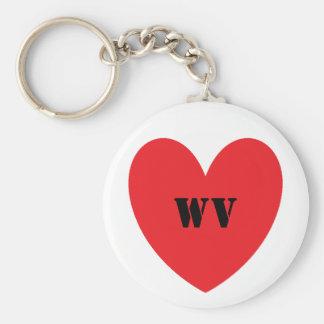 I Heart West VIrginia Keychain