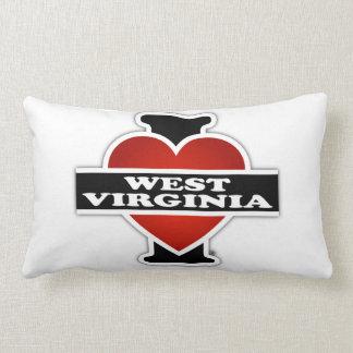 I Heart West Virginia Lumbar Pillow