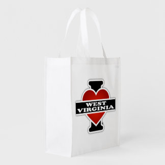 I Heart West Virginia Market Tote