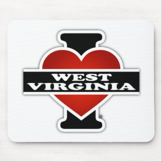 I Heart West Virginia Mouse Pad